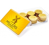 Maxi Rectangular Sweet Pots - Chocolate Coins