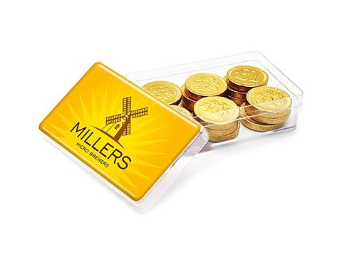 Maxi Rectangular Sweet Pots - Chocolate Coins