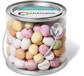 Midi Buckets - Speckled Chocolate Eggs  by Gopromotional - we get your brand noticed!