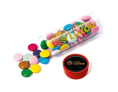 Midi Clear Sweet Tubes - Chocolate Beanies