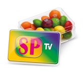 Midi Rectangular Sweet Pots - Skittle  by Gopromotional - we get your brand noticed!
