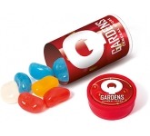 Mini Clear Sweet Tubes - Jelly Beans  by Gopromotional - we get your brand noticed!