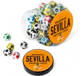 Mini Cookie Sweet Jars - Foil Wrapped Chocolate Footballs  by Gopromotional - we get your brand noticed!