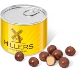 Mini Ring Pull Sweet Tins - Milk Chocolate Malt Balls