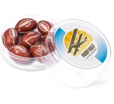 Maxi Round Sweet Pots - Foil Wrapped Chocolate Rugby Balls  by Gopromotional - we get your brand noticed!