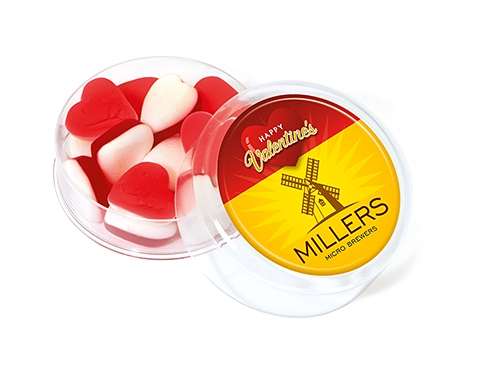 Maxi Round Sweet Pots - Valentines Heart Throbs