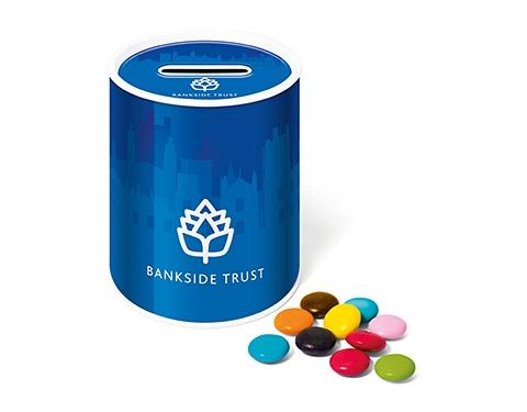 Money Box Sweet Tins - Chocolate Beanies