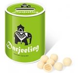 Money Box Sweet Tins - White Chocolate Malt Balls  by Gopromotional - we get your brand noticed!