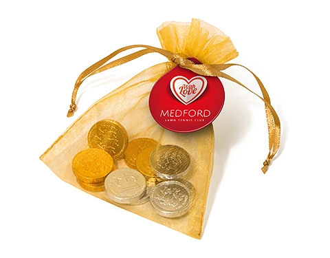 Organza Bags - Chocolate Coins