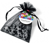 Organza Bags - Foil Wrapped Chocolate Footballs  by Gopromotional - we get your brand noticed!