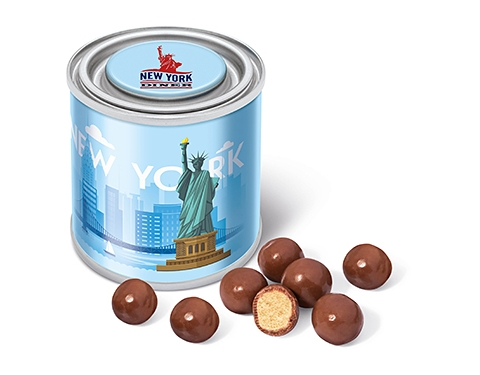 Small Sweet Paint Tins - Milk Chocolate Malt Balls
