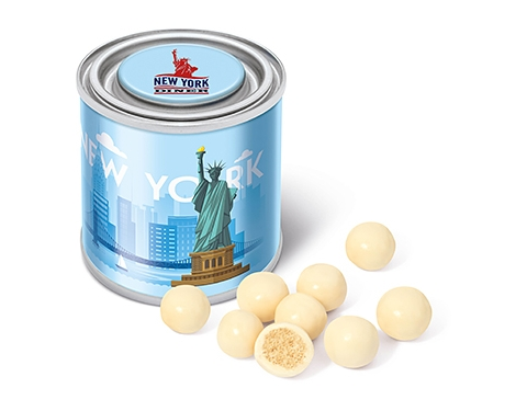 Small Sweet Paint Tins - White Chocolate Malt Balls