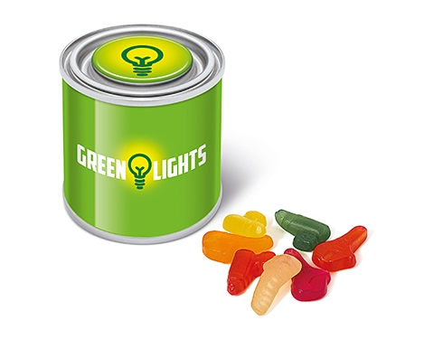 Small Sweet Paint Tins - Wine Gums