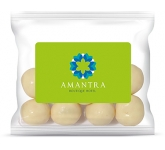 Sweet Treat Bags - White Chocolate Malt Balls - 20g  by Gopromotional - we get your brand noticed!