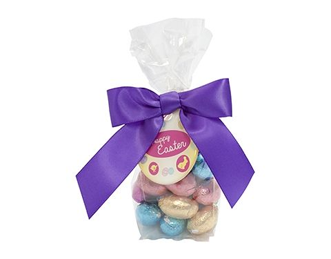 Swing Tag Sweet Bags - Foil Wrapped Chocolate Eggs