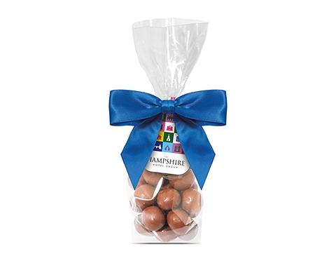 Swing Tag Sweet Bags - Milk Chocolate Malt Balls