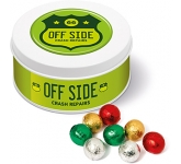 Treat Tins - Foil Wrapped Chocolate Balls  by Gopromotional - we get your brand noticed!