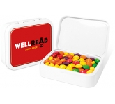 White Sweet Tins - Skittles  by Gopromotional - we get your brand noticed!