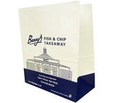 Cocoa 13 x 16 Pharmacy Paper Bag  by Gopromotional - we get your brand noticed!