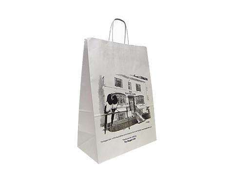 Holly Large Landscape Twist Handled Kraft Paper Bag