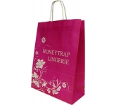 Holly Oversized A4 Twist Handled Kraft Paper Bag  by Gopromotional - we get your brand noticed!