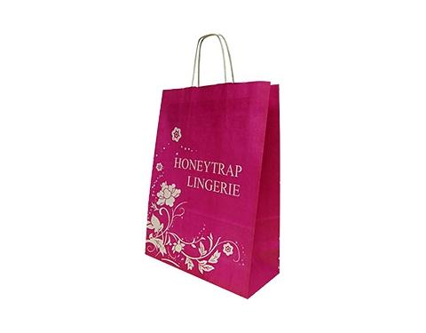 Holly Oversized A4 Twist Handled Kraft Paper Bag
