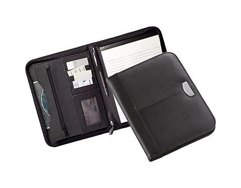 Madras A5 Zipped Leather Folder