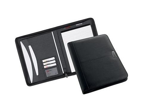 Derwent Zipped Leather Folder