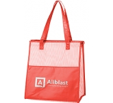 Stripe Cooler Shopper Bag  by Gopromotional - we get your brand noticed!