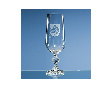 Claudia Lead Crystal Champagne Flute