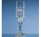 Flamenco Lead Crystal Panel Champagne Flute