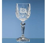 Flamenco Lead Crystal Panel Wine Glass