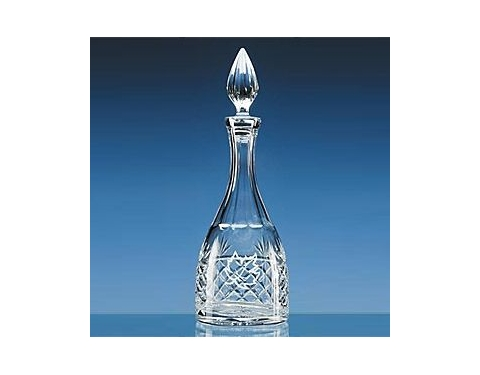 3/4 Ltr Lead Crystal Panel Wine Decanter