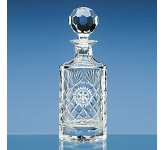 Lead Crystal Panel Round Decanter  by Gopromotional - we get your brand noticed!