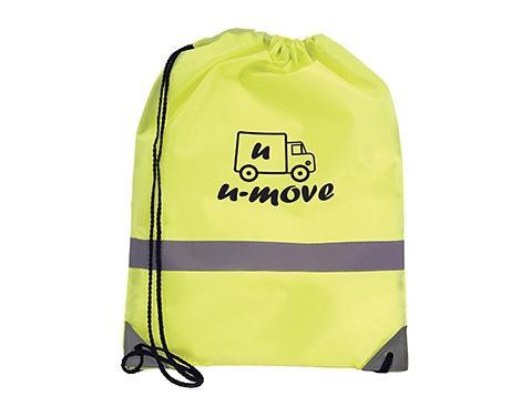 Neon High Visibiity Reflective Drawstring Bag