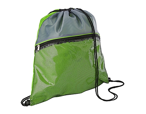 Duo Colour Mesh Drawstring Bag