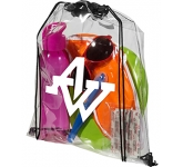 Stadium Clear PVC Drawstring Bag  by Gopromotional - we get your brand noticed!