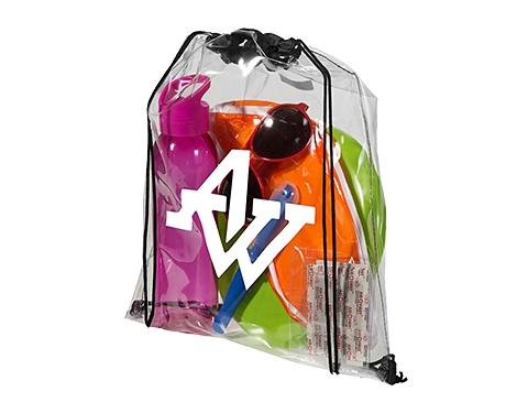 Stadium Clear PVC Drawstring Backpack
