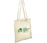 Long Handled Unbleached 4oz Natural Cotton Tote Bag