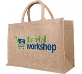 Pine Medium Natural Jute Bag  by Gopromotional - we get your brand noticed!