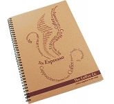 A4 Natural Recycled Spiral Bound Notepad  by Gopromotional - we get your brand noticed!