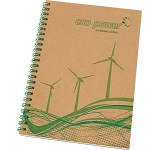 A5 Natural Recycled Spiral Bound Notepad  by Gopromotional - we get your brand noticed!