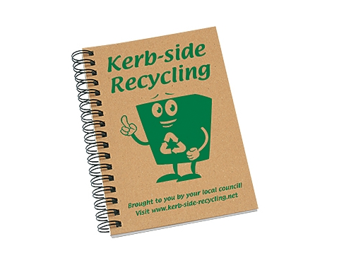 A6 Natural Recycled Spiral Bound Notepad