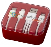 Mirage 3-in-1 USB Charging Cable Set  by Gopromotional - we get your brand noticed!