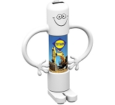 Bendy Man Power Bank - 2500mAh  by Gopromotional - we get your brand noticed!