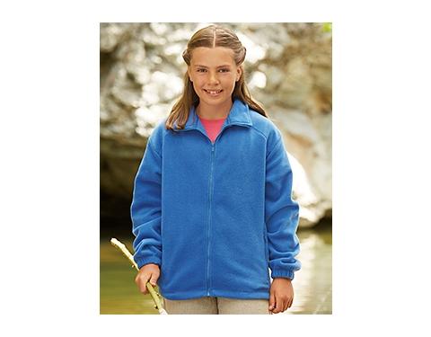 Fruit Of The Loom Kids Full Zip Fleece Jacket