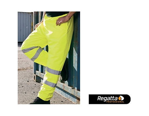 Regatta Hi-Vis Breathable Shell Overtrouser