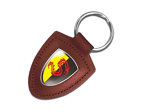 Knightsbridge Leather Expoy Domed Keyring