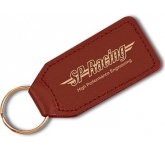 Large Rectangular Leather Keyring  by Gopromotional - we get your brand noticed!