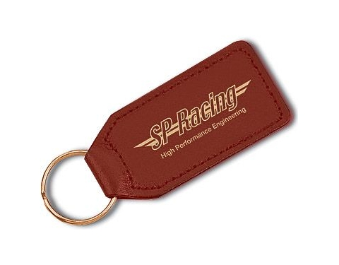 Large Rectangular Leather Keyring